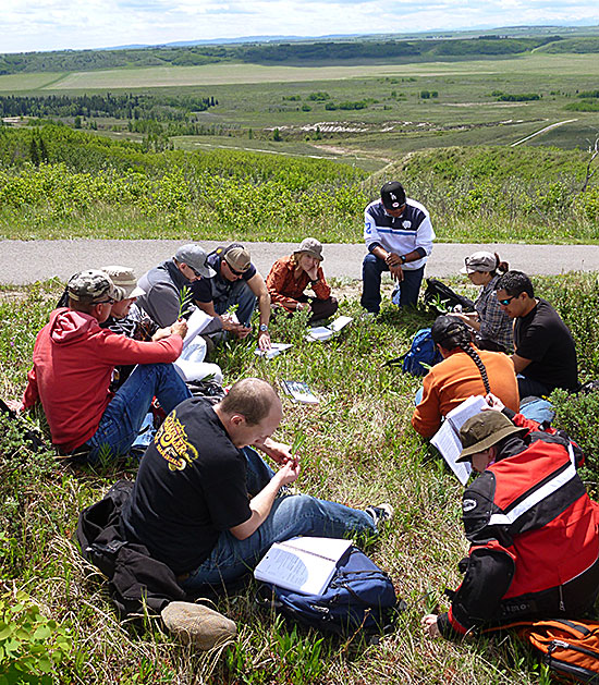 students at a course offered through Eastern Slopes Rangeland Seeds Ltd.